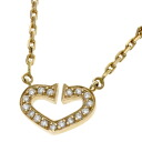 CARTIER C Heart Necklace K18 Pink ladies