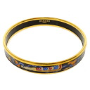 HERMES Bangle: fan motif cloisonne bracelet - ladies fs3gm