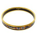 HERMES Bangle: fan motif cloisonne bracelet - ladies fs3gm