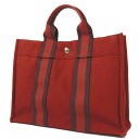 HERMES case fool toe PM handbag canvas Lady's fs3gm