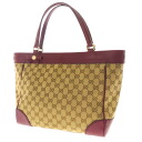 GUCCI GG pattern shoulder tote bag tote bag GG pattern canvas / Leather Womens