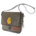 GOYARD herringbone tiny shoulder bag PVC x leather unisex fs3gm