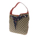 GUCCI GG pattern shoulder bag GG canvas x Leather Womens fs3gm