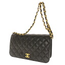 CHANEL chain shoulder Coco mark matelasse bag lambskin women's fs3gm
