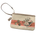 COACH shell design accessories porch canvas x leather Lady's fs3gm