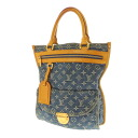 LOUIS VUITTON flat shopper M95018 tote bag monogram denim unisex fs3gm