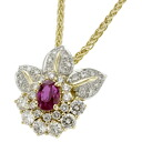SELECT JEWELRY ruby / diamond necklace K18 gold Lady's fs3gm