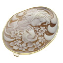 SELECT JEWELRY cameo broach K18 gold Lady's fs3gm