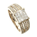 SELECT JEWELRY diamond ring, ring K18 pink gold Lady's fs3gm