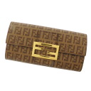 FENDI ズッキーノ long wallet (there is a coin purse) PVC Lady's fs3gm