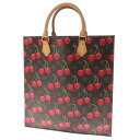 LOUIS VUITTON cherry case plastic M95010 tote bag monogram cherry canvas Lady's fs3gm