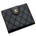 CHANEL here mark folio wallet (there is a coin purse) leather Lady's fs3gm