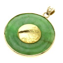 SELECT JEWELRY jade pendant top K18 gold Lady's fs3gm