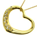 TIFFANY&Co. Open heart / diamond necklace K18 yellow gold Lady's fs3gm