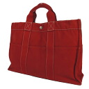 HERMES case fool toe MM tote bag canvas Lady's fs3gm