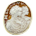 SELECT JEWELRY cameo pendant top broach K18 yellow gold Lady's fs3gm