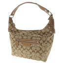 COACH signature pattern shoulder bag canvas X leather Lady's fs3gm