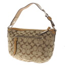 COACH signature pattern shoulder bag canvas X patent leather Lady's fs3gm