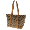 COACH signature 2WAY shoulder shoulder bag canvas x leather Lady's fs3gm