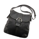 COACH stitch design shoulder bag leather Lady's