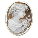 SELECT JEWELRY cameo broach K18 gold /Pt900 Lady's fs3gm