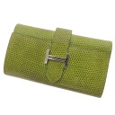 HERMES 4-H logo key case lizard women's fs3gm
