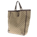 GUCCI GG pattern tote bags canvas / leather women's fs3gm