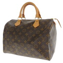 30 LOUIS VUITTON speedy M41527 handbag monogram canvas Lady's fs3gm