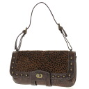 SELECT BAG animal print studded clutch shoulder bag leather x Huracan ladies fs3gm