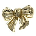 CHANEL ribbon broach broach K18 gold Lady's fs3gm