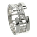 TIFFANY&Co. Atlas 3PD #9 ring, ring K18 white gold Lady's fs3gm