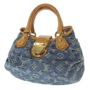 LOUIS VUITTON bully tea handbag monogram denim Lady's fs3gm