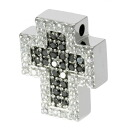 Ponte Vecchio cross / diamond pendant top K18 white gold Lady's upup7
