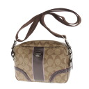 COACH long shoulder signature pattern shoulder bag PVCx patent Lady's upup7