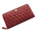 FENDI ラウンドファスナーズッカ type push long wallet (there is a coin purse) patent leather Lady's upup7