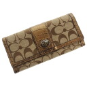 COACH signature bottle tit wallet (there is a coin purse) canvas X patent leather Lady's upup7