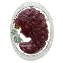 SELECT JEWELRY ruby / diamond / emerald pendant K18 gold /Pt900 Lady's upup7