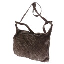 Leather one shoulder shoulder bag leather Lady's upup7 which SELECT BAG knitting includes