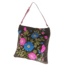 Valentino Garavani flower embroidery one shoulder shoulder bag canvas x leather Lady's upup7