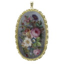 SELECT JEWELRY oil painting style frame pendant top broach K18 yellow gold Lady's upup7