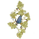 SELECT JEWELRY opal / pearl / sapphire / diamond broach K18 yellow gold Lady's upup7