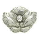 Georg Jensen flower motif broach silver Lady's upup7