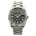 ROLEX Oyster Perpetual Day-date 2 218239A OH and outstanding watch K18 white gold mens upup7