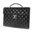 CHANEL here mark business bag caviar skin men upup7