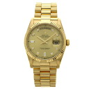 Finish ROLEX D date 118,238A 10P diamond 2013/11/3OH; watch K18 yellow gold men upup7