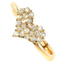 SELECT JEWELRY diamond ring, ring K18 pink gold Lady's upup7