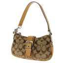 COACH signature pattern accessories porch canvas x leather Lady's upup7