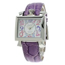 Gaga Milano ナポレオーネ watch stainless steel / purple leather men upup7