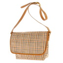 TSUMORI CHISATO checked pattern shoulder bag cotton PVC X sheep leather Lady's upup7