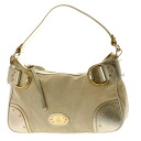 Shoulder bag canvas X patent leather Lady's upup7 with BALLY logo plate